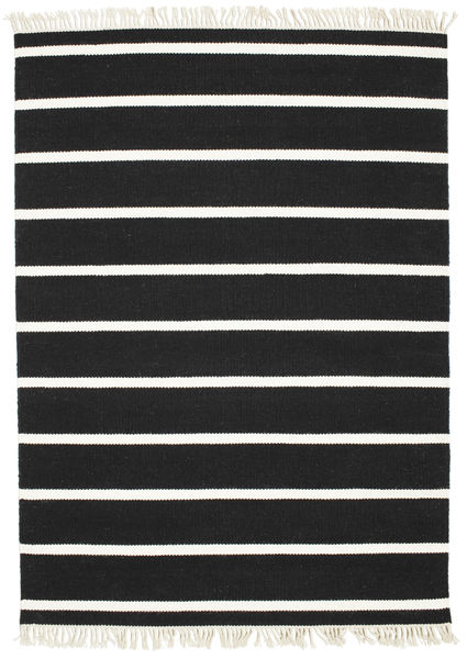 Dorri Stripe - Negro/Blanco Alfombra 140X200 Moderna Tejida A Mano Negro (Lana, India)