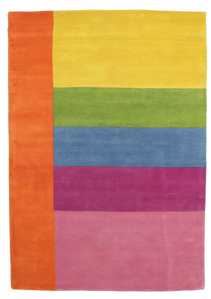 Colors By Meja Handtufted Alfombra 160X230 Moderna Naranja/Rosa Claro (Lana, India)