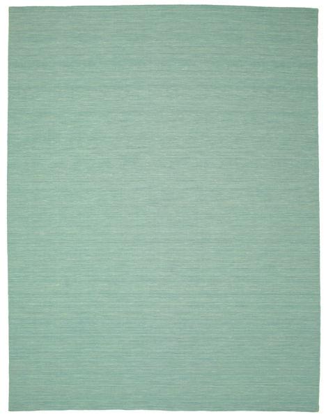 Kilim Loom - Mint Verde Alfombra 300X400 Moderna Tejida A Mano Verde Pastel/Azul Turquesa Grande (Lana, India)