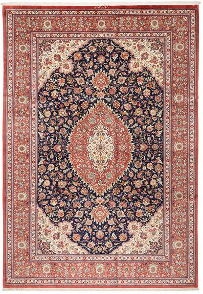 Ghom De Seda Alfombra 240X348 Oriental Hecha A Mano Marrón/Beige (Seda, Persia/Irán)