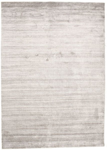 Bambú De Seda Loom - Warm Gris Alfombra 160X230 Moderna Gris Claro/Blanco/Crema ( India)