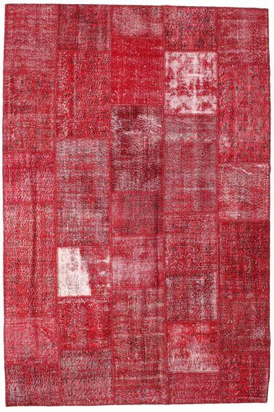 Patchwork Alfombra 203X302 Moderna Hecha A Mano Roja/Óxido/Roja (Lana, Turquía)