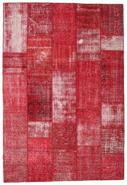 Patchwork Alfombra 203X301 Moderna Hecha A Mano Roja/Óxido/Roja (Lana, Turquía)