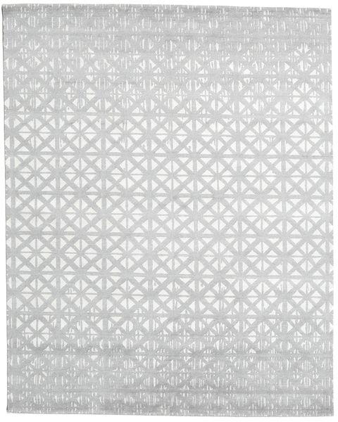 Himalaya Alfombra 244X306 Moderna Hecha A Mano Blanco/Crema/Gris Claro (Lana/Seda De Bambú, India)