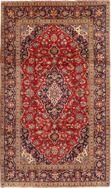 Keshan Alfombra 195X333 Oriental Hecha A Mano Rojo Oscuro/Óxido/Roja (Lana, Persia/Irán)