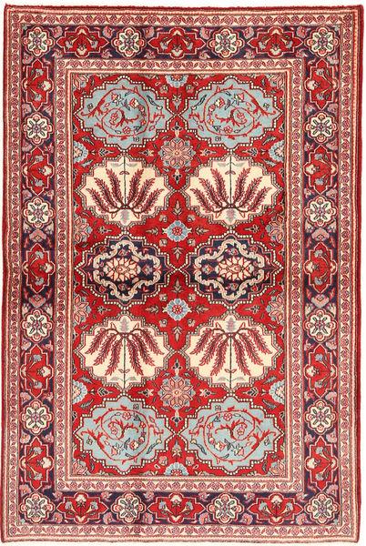 Keshan Alfombra 130X197 Oriental Hecha A Mano Rojo Oscuro/Óxido/Roja (Lana, Persia/Irán)