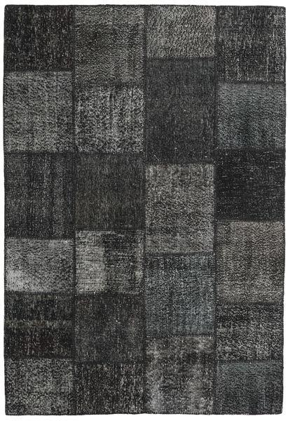 Patchwork Alfombra 159X231 Moderna Hecha A Mano Gris Oscuro/Verde Oscuro (Lana, Turquía)
