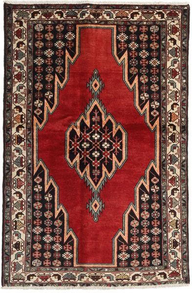 Afshar/Sirjan Alfombra 132X200 Oriental Hecha A Mano Marrón Oscuro/Rojo Oscuro (Lana, Persia/Irán)
