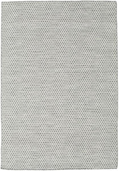 Kilim Honey Comb - Gris Alfombra 160X230 Moderna Tejida A Mano Gris Claro/Beige (Lana, India)