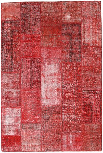 Patchwork Alfombra 199X297 Moderna Hecha A Mano Rojo Oscuro/Óxido/Roja (Lana, Turquía)