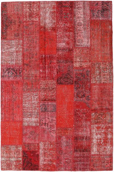 Patchwork Alfombra 202X306 Moderna Hecha A Mano Rojo Oscuro/Roja/Óxido/Roja (Lana, Turquía)