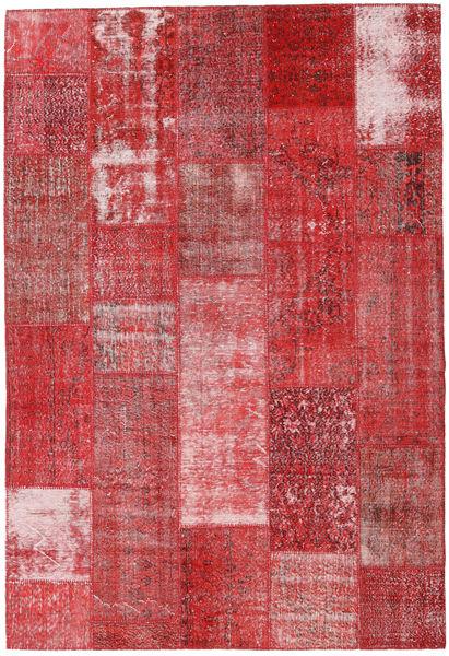 Patchwork Alfombra 203X298 Moderna Hecha A Mano Rojo Oscuro/Óxido/Roja (Lana, Turquía)