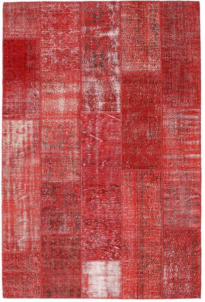 Patchwork Alfombra 202X303 Moderna Hecha A Mano Rojo Oscuro/Óxido/Roja (Lana, Turquía)