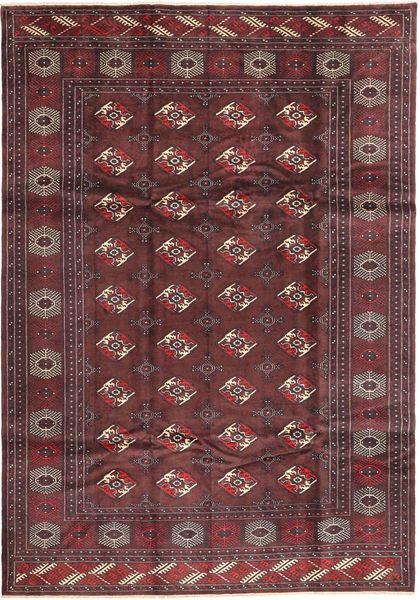 Turkaman Alfombra 210X300 Oriental Hecha A Mano Marrón Oscuro/Rojo Oscuro (Lana, Persia/Irán)