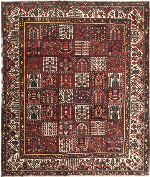 Bakhtiar Patina Alfombra 278X330 Oriental Hecha A Mano Rojo Oscuro/Marrón Grande (Lana, Persia/Irán)