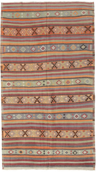 Kilim Turquía Alfombra 166X295 Oriental Tejida A Mano Gris Claro/Rojo Oscuro (Lana, Turquía)