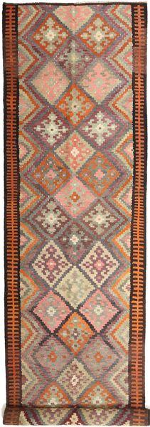 Kilim Fars Alfombra 158X830 Oriental Tejida A Mano Rojo Oscuro/Marrón Claro (Lana, Persia/Irán)