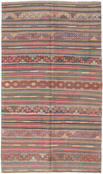 Kilim Turquía Alfombra 163X280 Oriental Tejida A Mano Gris Oscuro/Marrón (Lana, Turquía)