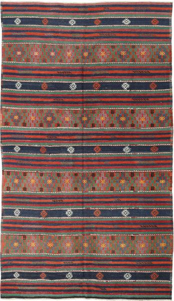 Kilim Turquía Alfombra 175X308 Oriental Tejida A Mano Rojo Oscuro/Gris Oscuro (Lana, Turquía)