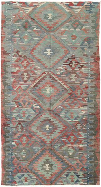 Kilim Turquía Alfombra 158X302 Oriental Tejida A Mano Gris Claro/Verde Oscuro (Lana, Turquía)