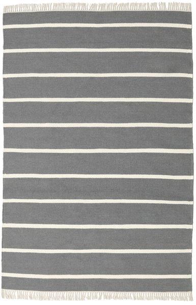 Dorri Stripe - Gris Alfombra 140X200 Moderna Tejida A Mano Gris Oscuro/Beige (Lana, India)