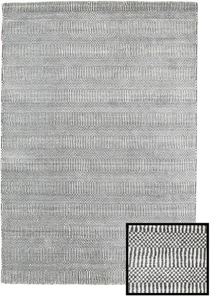 Bambú Grass - Black_ Gris Alfombra 120X180 Moderna Gris Claro/Gris Oscuro (Lana/Seda De Bambú, Turquía)