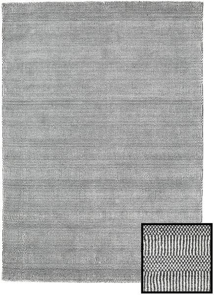 Bambú Grass - Black_ Gris Alfombra 140X200 Moderna Gris Claro/Gris Oscuro (Lana/Seda De Bambú, Turquía)