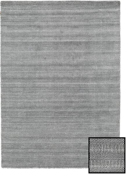 Bambú Grass - Black_ Gris Alfombra 160X230 Moderna Gris Claro/Gris Oscuro (Lana/Seda De Bambú, Turquía)