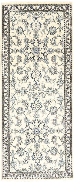 Nain Alfombra 78X204 Oriental Hecha A Mano Beige/Gris Claro (Lana, Persia/Irán)