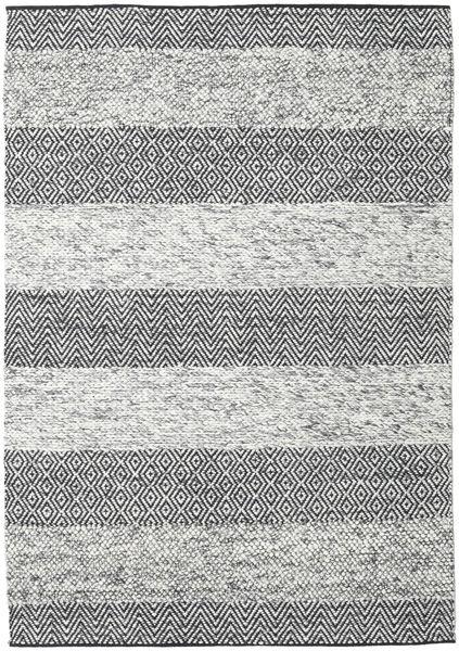 Folke - Gris Alfombra 160X230 Moderna Tejida A Mano Gris Claro/Gris Oscuro (Lana, India)