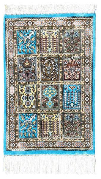 Ghom De Seda Alfombra 30X40 Oriental Hecha A Mano Beige/Gris Oscuro/Gris Claro (Seda, Persia/Irán)