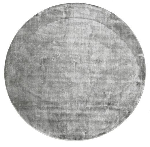 Broadway - Misty Grey Alfombra Ø 300 Moderna Redonda Gris Claro/Gris Oscuro Grande ( India)
