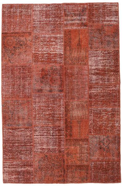 Patchwork Alfombra 196X301 Moderna Hecha A Mano Rojo Oscuro/Óxido/Roja (Lana, Turquía)