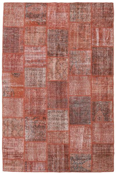 Patchwork Alfombra 198X301 Moderna Hecha A Mano Rojo Oscuro/Rosa Claro (Lana, Turquía)