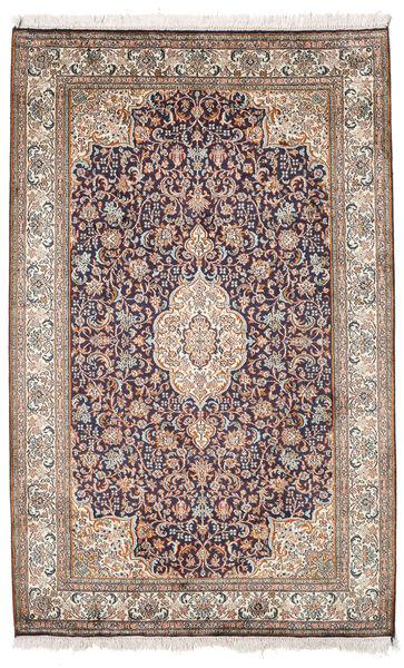 Cachemira Pura De Seda Alfombra 98X155 Oriental Hecha A Mano Gris Claro/Blanco/Crema (Seda, India)