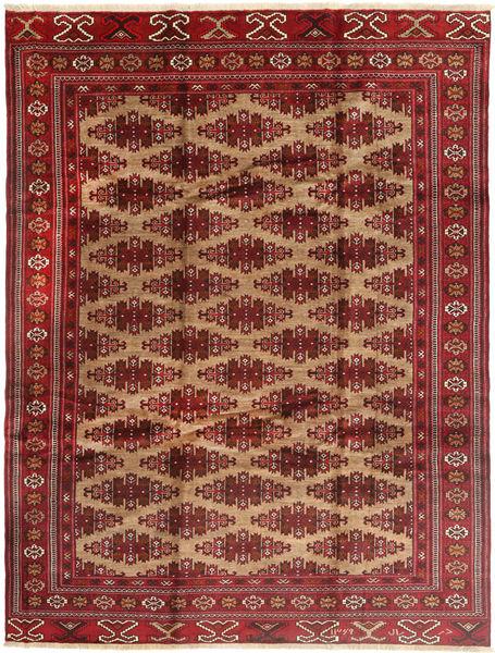 Turkaman Alfombra 235X315 Oriental Hecha A Mano Rojo Oscuro/Marrón Claro (Lana, Persia/Irán)