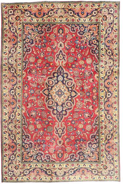Tabriz Alfombra 194X290 Oriental Hecha A Mano Óxido/Roja/Gris Oscuro (Lana, Persia/Irán)