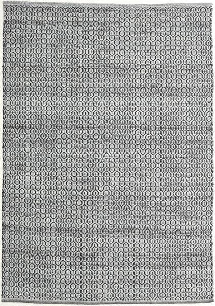 Alva - Gris/Negro Alfombra 140X200 Moderna Tejida A Mano Gris Oscuro/Gris Claro (Lana, India)