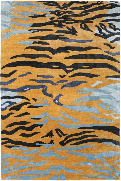 Love Tiger - Naranja/Gris Alfombra 200X300 Moderna Marrón Claro/Negro ( India)