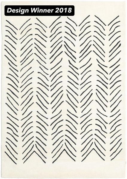 Scandic Lines - 2018 Alfombra 160X230 Moderna Beige/Gris Oscuro (Lana, India)