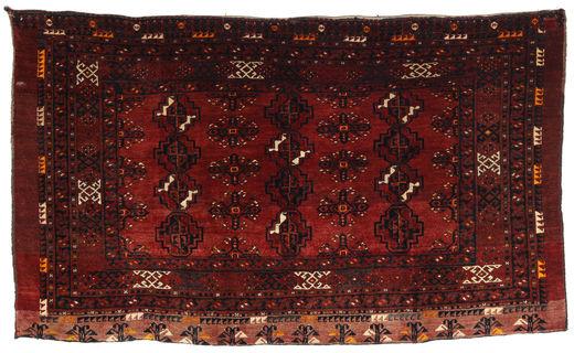 Afghan Khal Mohammadi Alfombra 96X163 Oriental Hecha A Mano Rojo Oscuro (Lana, Afganistán)