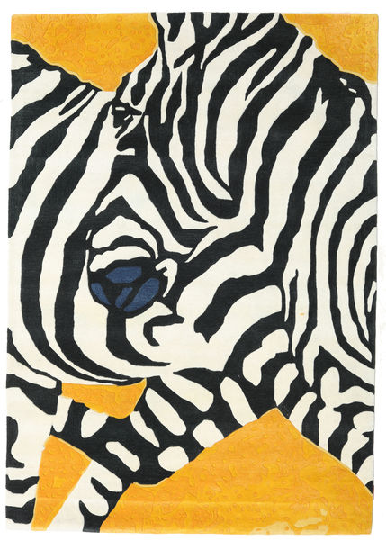 Zebra - 2018 Alfombra 160X230 Moderna Beige/Negro (Lana, India)