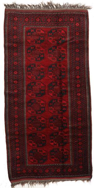 Afghan Khal Mohammadi Alfombra 113X218 Oriental Hecha A Mano Rojo Oscuro (Lana, Afganistán)