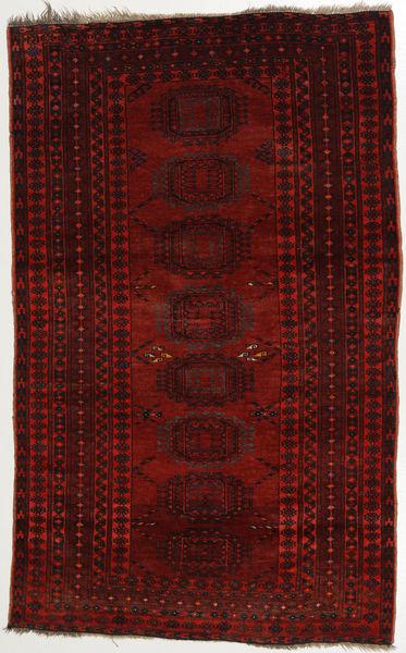 Afghan Khal Mohammadi Alfombra 107X176 Oriental Hecha A Mano Marrón Oscuro/Roja (Lana, Afganistán)