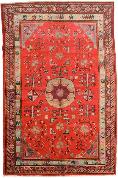 Samarkand Vintage Alfombra 161X250 Oriental Hecha A Mano Óxido/Roja/Rojo Oscuro (Lana, China)