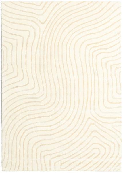 Woodyland - Beige Alfombra 160X230 Moderna Beige/Blanco/Crema (Lana, India)