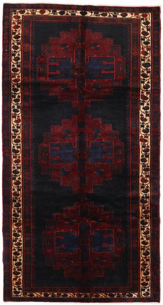 Saveh Alfombra 152X288 Oriental Hecha A Mano Rojo Oscuro (Lana, Persia/Irán)