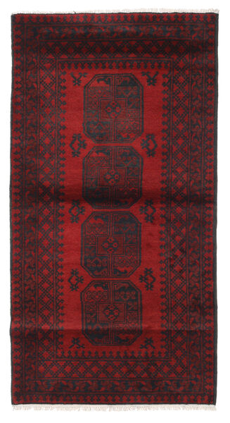 Afghan Alfombra 103X193 Oriental Hecha A Mano Rojo Oscuro/Negro (Lana, Afganistán)
