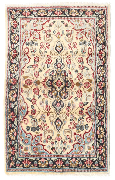 Kerman Alfombra 88X140 Oriental Hecha A Mano Marrón Claro/Beige (Lana, Persia/Irán)