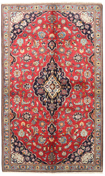 Keshan Alfombra 145X240 Oriental Hecha A Mano Rojo Oscuro/Gris Oscuro (Lana, Persia/Irán)